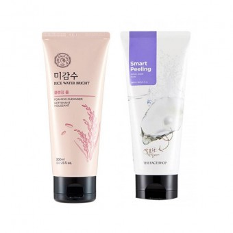 Rice Water Bright Foaming Cleanser & White Jewel Peeling Set