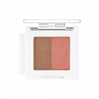 Mono Cube Eyeshadow (Dual)  BR02 Orange Mocha