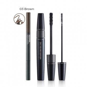 (XMAS SET) 2 In 1 Volume Mascara 01 Black (03)