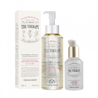 The Therapy Serum Infused Oil Cleanser & The Therapy First Serum 50ml