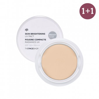 Skin Brightening UV Pact SPF50+ PA+++ V201 1+1