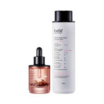 belif Rose Gemma Concentrate Oil & hazel herbal extract toner
