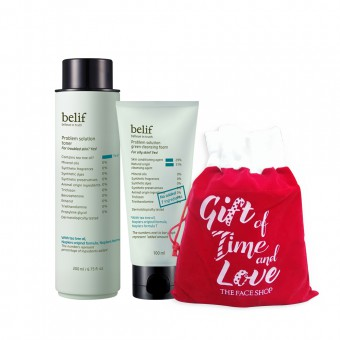 Holiday Bundle_belif Problem solution toner & cleansing foam