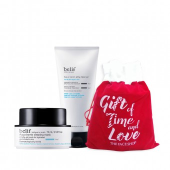 Holiday bundle_belif Aqua Bomb Sleeping Mask_Aqua Balm Cleanser