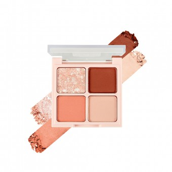 FMGT Rosy Nude Edition Quad Eye Shadow Palette 04 Burnt Rose