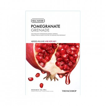 Real Nature Face Mask  Pomegranate