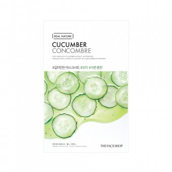 Real Nature Face Mask  Cucumber