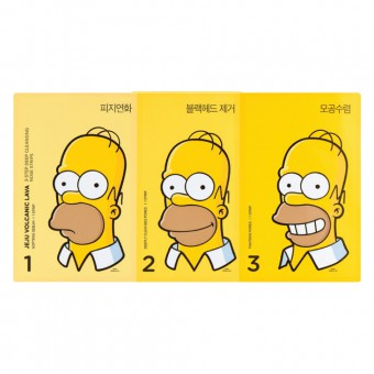 Jeju Pore 3 Steps Nose Strip (Simpsons)