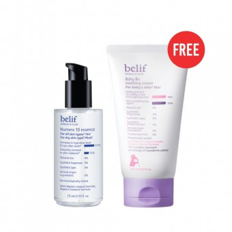 belif Numero 10 essence 75ml Free Baby Bo Soothing Cream
