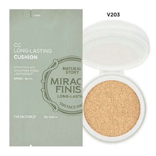 CC Long-Lasting Cushion SPF50+ PA+++ V201 Refill (Miracle Finish)