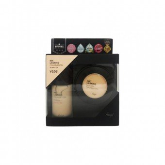 FMGT Inklasting Foundation Slim Fit Ex & Powder Set V203 Natural Beige